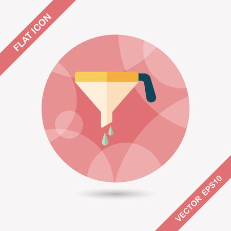 liquidizer: kitchenware funnel flat icon with long shadow,eps10