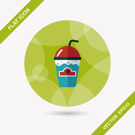 capuchino: frappucino flat icon with long shadow,eps10