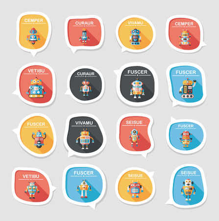 bubble background: robot concept flat speech bubble background,eps10
