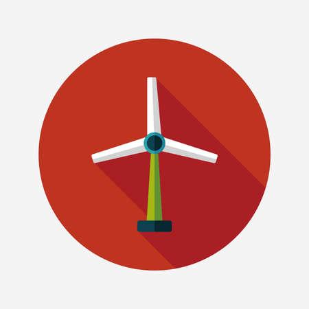 wind energy: Environmental protection concept flat icon with long shadow,eps10; wind energy; saving energy; renewable energy