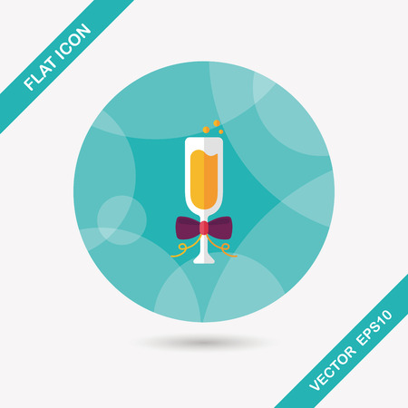 champaign: Champaign flat icon with long shadow, eps10