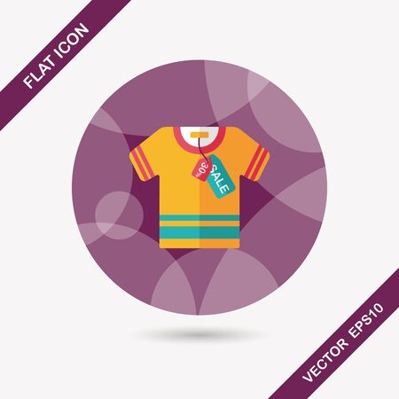 outwear: shopping clothes flat icon with long shadow,eps10 Illustration