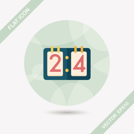 scoreboard timer: scoreboard flat icon with long shadow,eps10