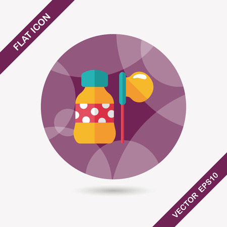 permit: bubbles flat icon with long shadow,eps10