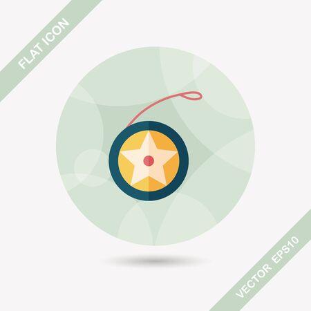 yo: yo yo flat icon with long shadow,eps 10 Illustration