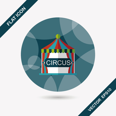 fete: circus flat icon with long shadow,eps10