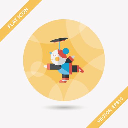 acrobatics: A�o Nuevo Chino Acrobacia icono plana chica con larga sombra
