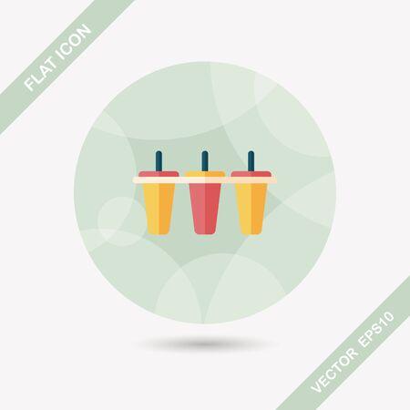 refrigerate: icono plana m�quina de hielo de cocina con una larga sombra