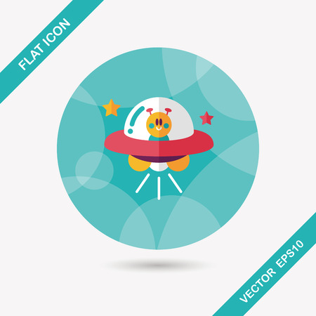 Space flat icon with long shadow,eps10 Vector