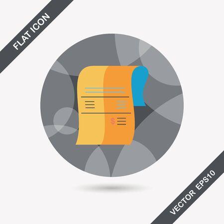creditcard: icono plana factura de tarjeta de cr�dito comercial con larga sombra Vectores
