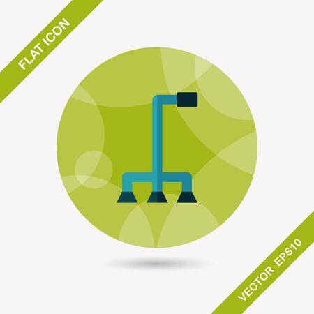 walking stick: walking stick flat icon with long shadow Illustration
