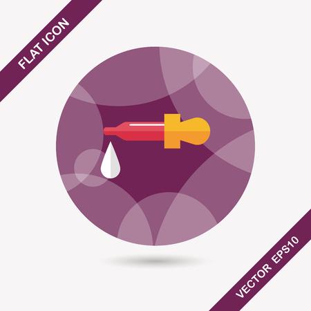 fiole: compte-gouttes ic�ne plat avec ombre Illustration