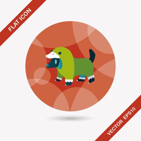 clothed: Abbigliamento Pet icona piatto con una lunga ombra, eps10 Vettoriali