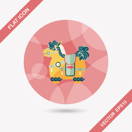 exiting: Chinese New Year flat icon with long shadow, Chinese decoration means  Wishing you immediately earn a lot of money.