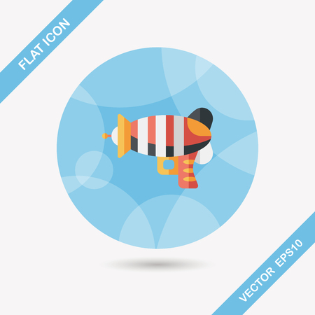 raygun: Space gun flat icon with long shadow