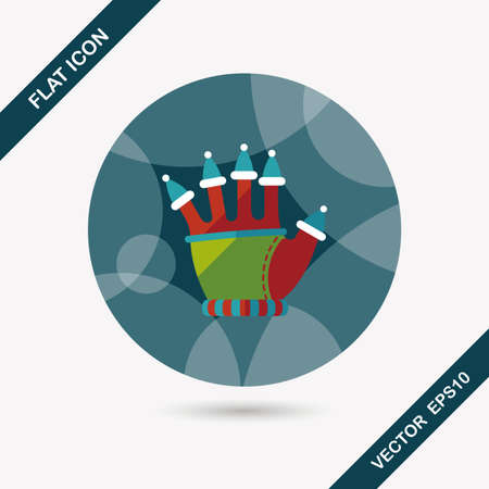 long gloves: gloves flat icon with long shadow Illustration