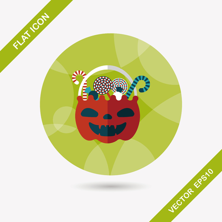 gummy: halloween candy flat icon with long shadow,eps10