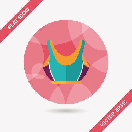 swimming suit: swimming suit flat icon with long shadow Illustration