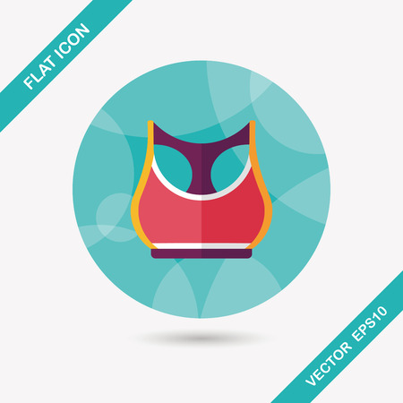 leisure wear: sports tank vest flat icon with long shadow Illustration