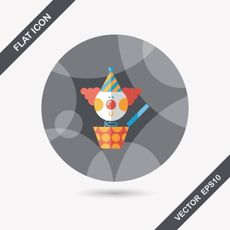 jack in the box: Jack in the box flat icon with long shadow