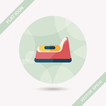 vasino: vasino icona piatto con una lunga ombra
