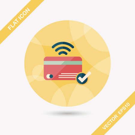 creditcard: tarjeta de cr�dito de compras icono plana con larga sombra