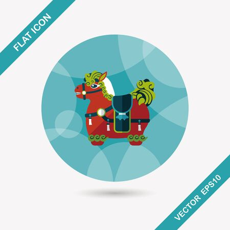 immediately: Chinese New Year flat icon with long shadow, Chinese decoration means  Wishing you immediately earn a lot of money.