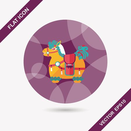 immediately: Chinese New Year flat icon with long shadow,Chinese decoration means  Wishing you immediately earn a lot of money. Illustration