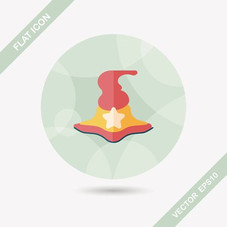 witch hat: witch hat flat icon with long shadow