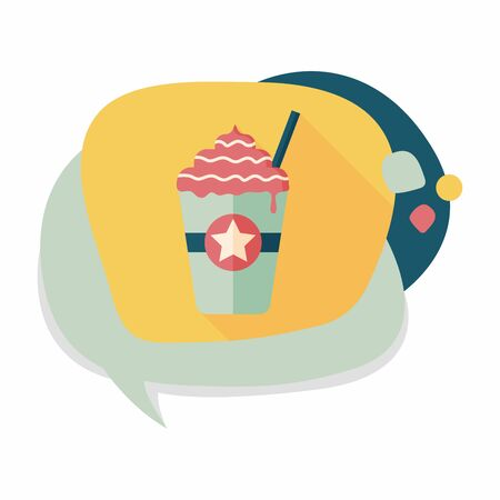 capuchino: frappucino flat icon with long shadow