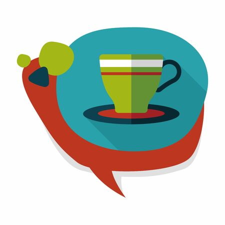 lliquid: coffee cup flat icon with long shadow