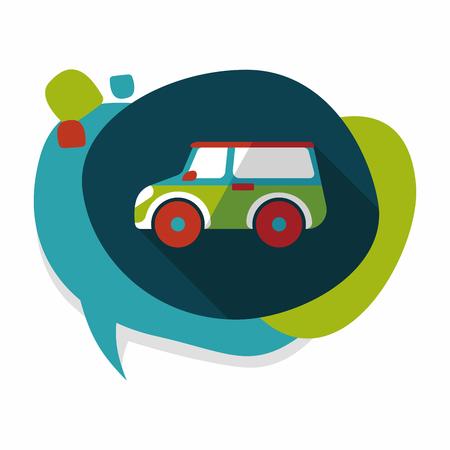sport utility vehicle: Transportation Sports Utility Vehicle flat icon with long shadow Illustration