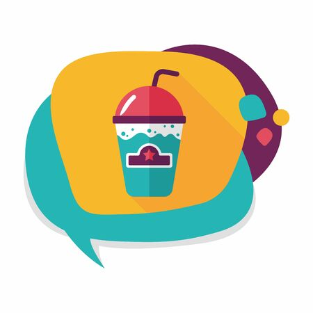 blended: frappucino flat icon with long shadow, Illustration