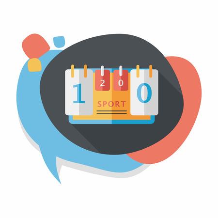 scoreboard timer: scoreboard flat icon with long shadow,