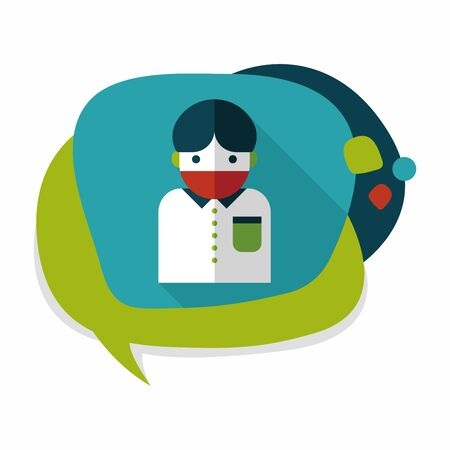 infect: Patient flat icon with long shadow Illustration