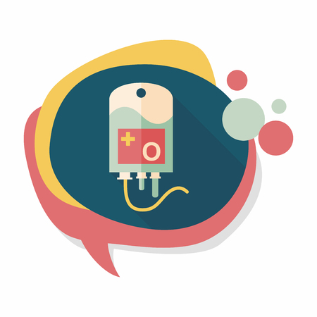 intravenous: IV bag flat icon with long shadow Illustration