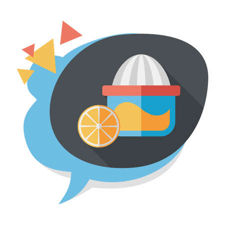 kitchenware juicer flat icon with long shadow Vector