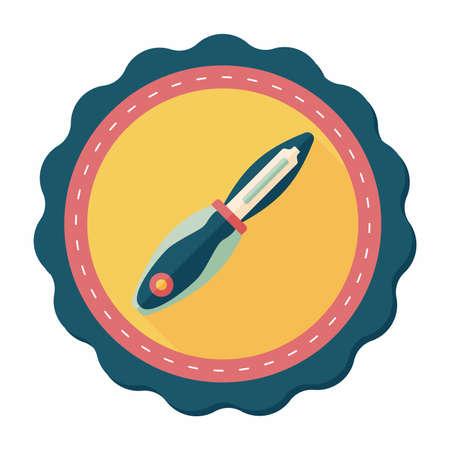kitchenware fruit knife flat icon with long shadow,eps10 Illustration