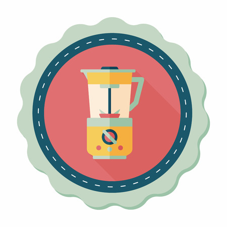 kitchenware electric juicer flat icon with long shadow,eps10 Vector