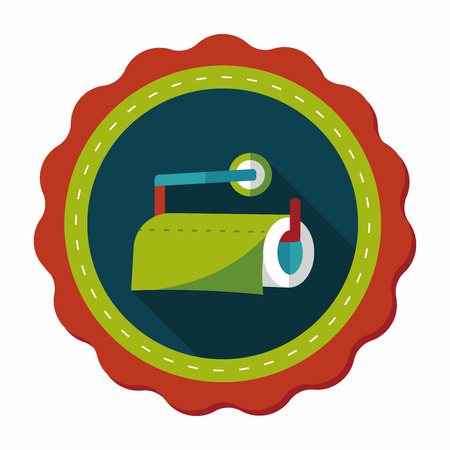 cleansing: kitchenware paper flat icon with long shadow,eps10