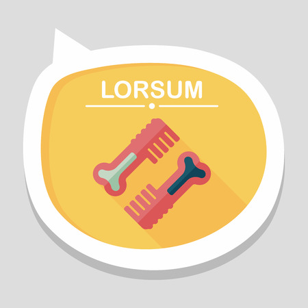 cat grooming: Pet dog brush flat icon with long shadow,eps10