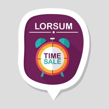 edizione straordinaria: negozi limite vendita icona piatto con una lunga ombra, eps10