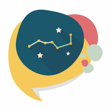 Space dipper flat icon with long shadow,eps10 Vector