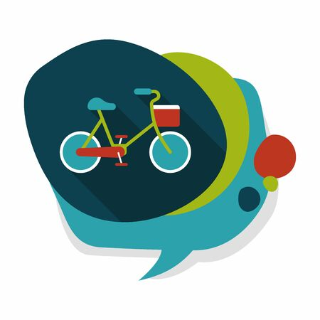 reduce: Environmental protection concept flat icon with long shadow,eps10; More cycling to reduce emissions