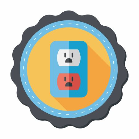 saving energy: Environmental protection concept flat icon with long shadow,eps10; Saving energy, turning off lights
