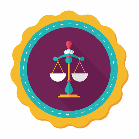 fairness: Balance flat icon with long shadow,eps10
