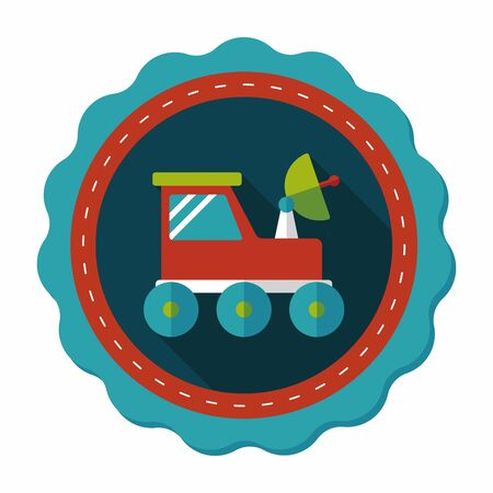 rover: Space Rover flat icon with long shadow,eps10