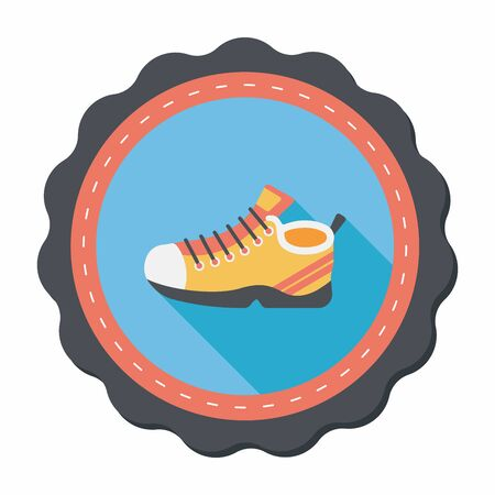 sneaker flat icon with long shadow,eps10