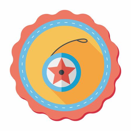 yo: yo yo flat icon with long shadow Illustration