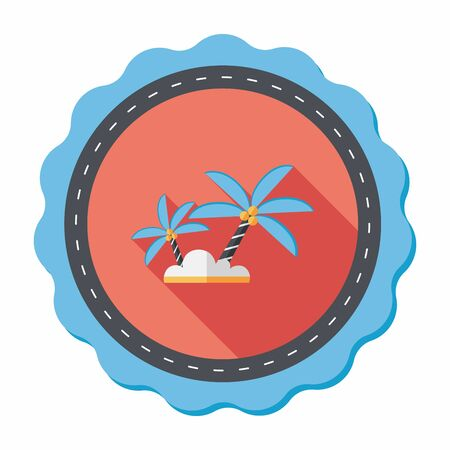 coco: Palm tree flat icon with long shadow,eps10